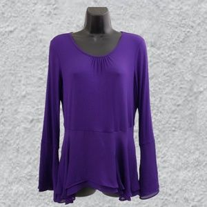 Elle top purple size small long sleeve
